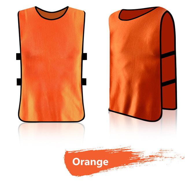 2017 New Sleeveless Men Kids Soccer Training jersey Sports Football Against Vest Waistcoat Grouping Jerseys Shirt DIY Customized