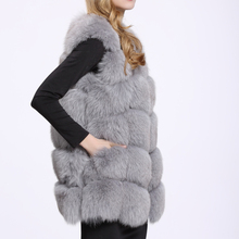 Genuine Fox Fur Vest For Women Hot Sale Real Natural Fur Coat Plus size Cuatomize Best Quality Winter Jacket BF-V0061