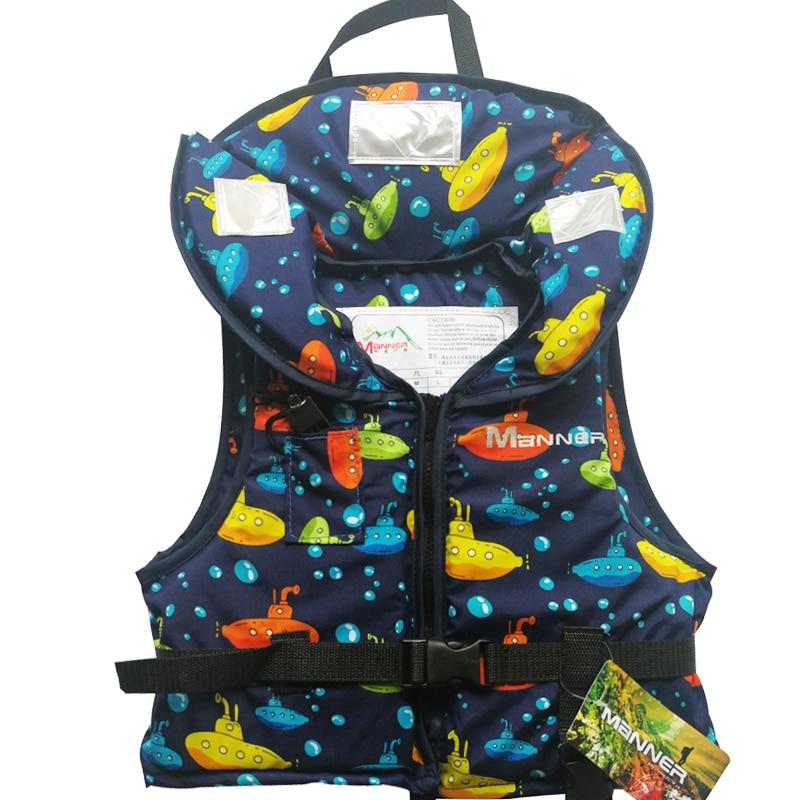 MANNER Life Vest Jacket Children Boating Surfing Fishing Rafting Swimming Vest Children Watersport Life Vest For Kids Swim Vests
