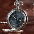 Christmas Gift Auto Mechanical Pocket Watch Transparent Glass Cover Classic Simple Fashion Gray Luxury Elegant Relogio De Bolso
