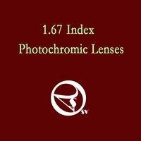 1.67 index photochromic ống kính theo toa chất lượng cao aspheric surface ASPH quang ống kính photochromic