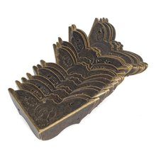 MACH 45x13mm Old Antique Bronze Desk Edge Cover Iron Box Corner Protector Pack of 20