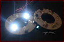 Супер яркий 2 шт. х 40 мм Angel Eyes фары 6 SMDs LED Кольцо Света Автомобиля Белый HY-026 2013 Бесплатно доставка JJJ