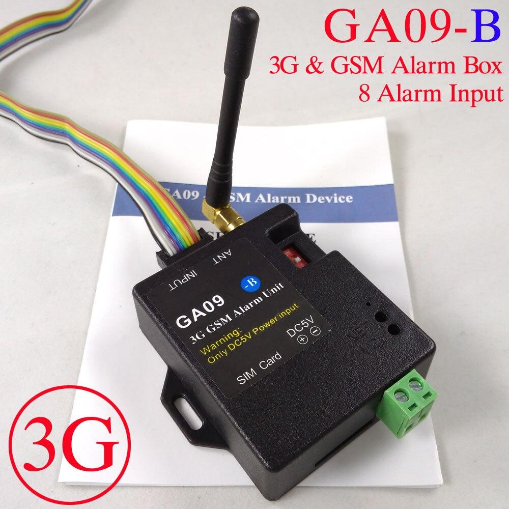 2017 nouveau système d'alarme d'appel téléphonique SMS 8 canaux 3G et GSM pour la sécurité de l'entrepôt du système d'alarme domestique