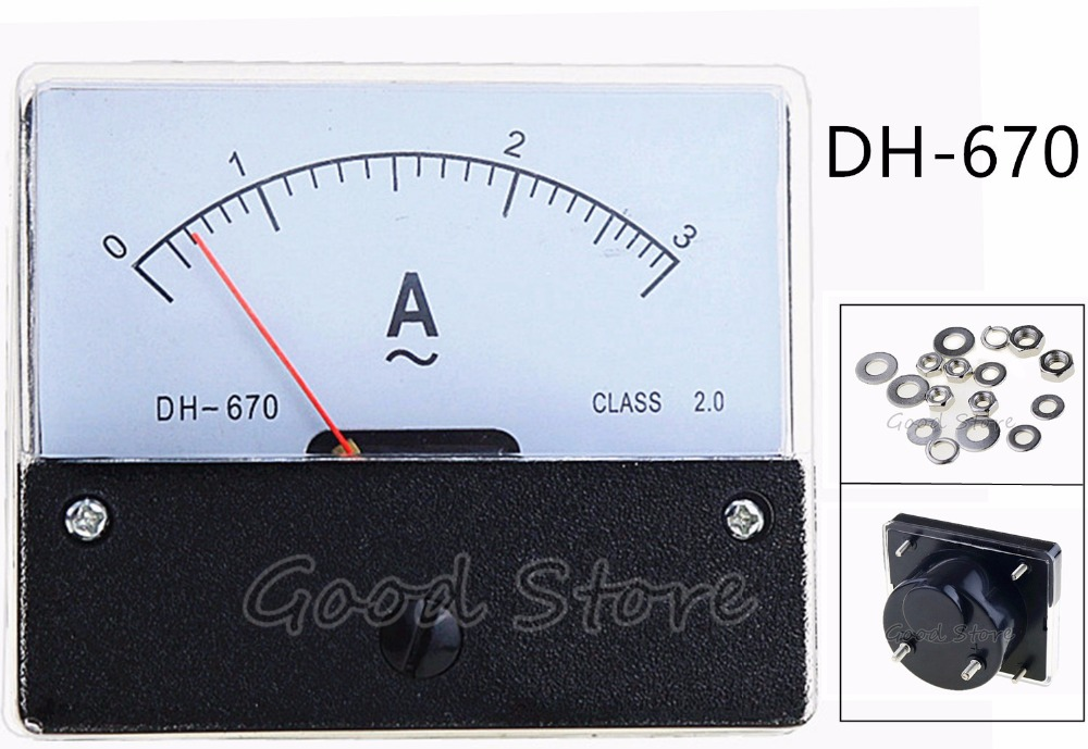 DH-72 AC 0-30A Class 1.5 Accuracy Vertical Mounted Analog Ammeter Ampere Meter