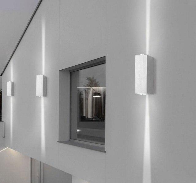 Moderne Led Lampe Wandleuchte Up Down Leuchte Hintergrund Wand Spot