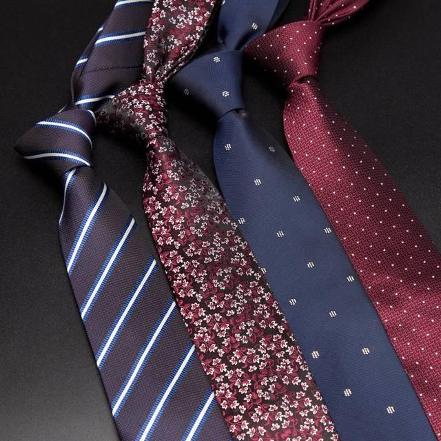 Men Ties luxury Mens Fashion flower Skinny Stripe 7cm Neckties Gravata Jacquard Tie Business Man Wedding Dress Shirt Accessories