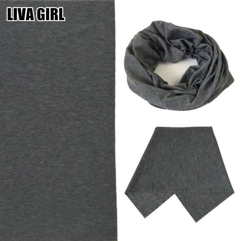 Liva Girl New Hot Solid Color Soft 24*48cm Headband Magic Headscarf Tube Neck Face Mask Multifunctional High Quality Female Male