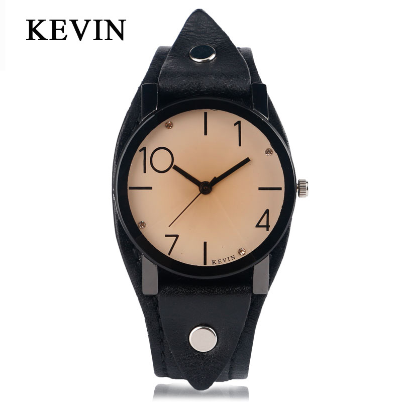 KEVIN Steampunk Sport Wrist Watch Arabic Numbers Dial Vintage Retro Classic Leather Quartz Simple Casual Rock Watch Gift Outdoor cindiry retro steampunk black hollow design quartz pocket watch necklace antique pendant watches for women vintage gift p10
