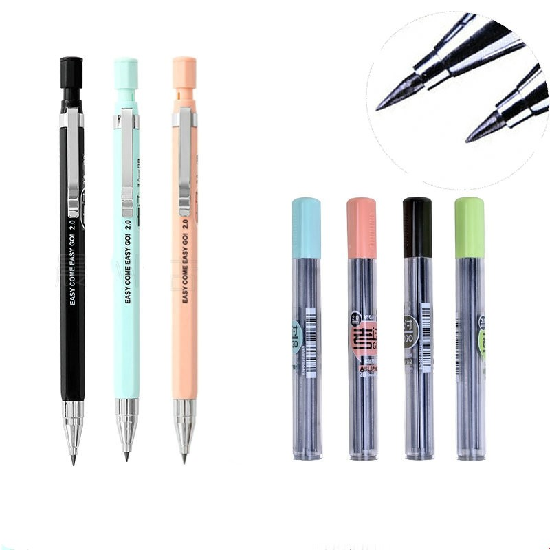 2.0mm Mechanical Pencil, 2mm Lead Pencil For Draft Drawing, Carpenter, Crafting, Art Sketching