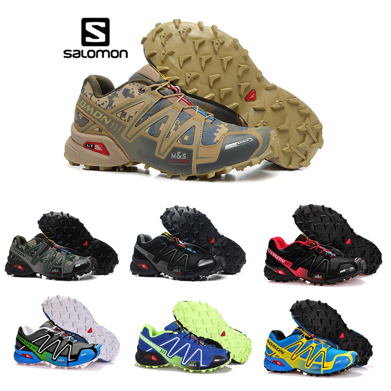 Salomon Speed Cross 3 CS cross running shoes Brand Sneakers Male Athletic Sport Shoes SPEED Fencing Shoes salomon speed cross 3 cs men shoes new man running shoes sports shoes sneakers outdoors mesh breathable wading walk couple athl