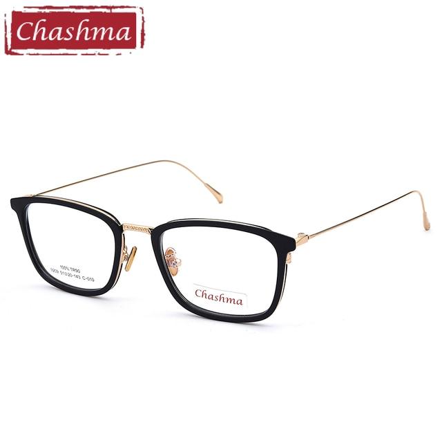 Chashma Marca TR 90 Preto Estilo Óculos de armação Óculos de Lentes Claras  de para oculos 4d1189c473