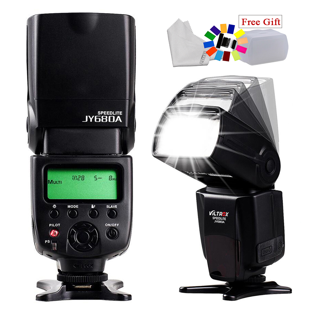 Universele VILTROX JY-680A LCD Screen Flash Speedlite For Canon Nikon Pentax Sony A58 A6000 A3000 A7s A7 A6300 A7r A7r II DSLR universal camera inseesi in 560 iv plus wireless flash or viltrox jy 680a flash speedlite with lcd screen for canon nikon pentax