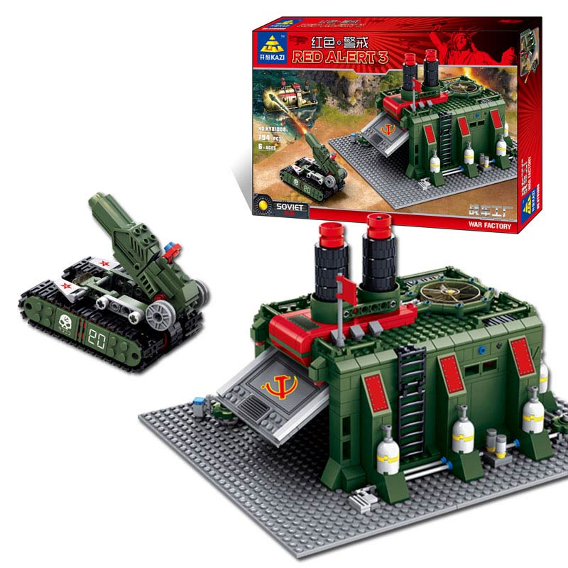 Kazi Brand Building Blocks Toys Red Alert War Factory High Quality Plastic Self-Locking Bricks Compatible With All Brand top quality abs big building blocks for baby self locking bricks set happy family house eudcational toys compatible