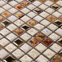 Brown White Kiln Polished Porcelain Ceramic Tiles Mosaic HMCM1048 Kitchen Backsplashl Tile Bathroom Floor Ceramic Wall