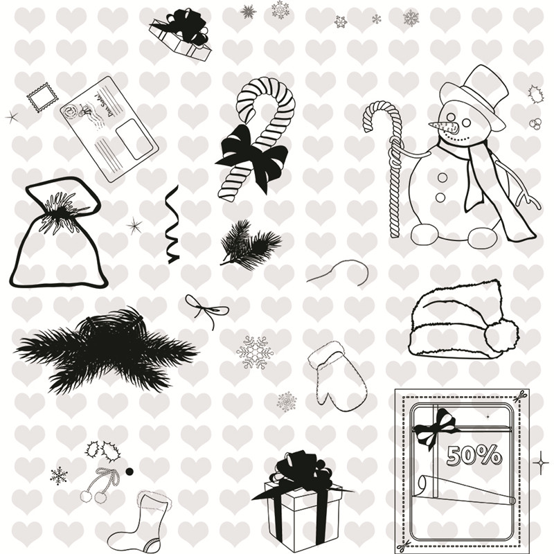 InLoveArts Christmas Stamps and Dies Metal Cutting Dies New 2019 Scrapbooking Gifts Sock Snowman Stamps Dies Cut for Card Making