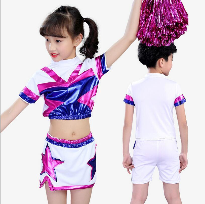 School Cheerleader Costume Cheer Girls Uniform Party Outfit Fancy Dress  Boys Girls Dance Costume Cheerleader Costume Modern Set