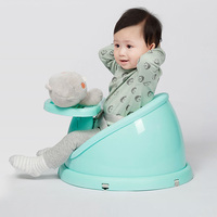 QBORN CQ01 Baby Booster Feeding Seat Comfort Portable Booster Seat With Tray Plastic Adjustable Dining Chair Safety Table Chair