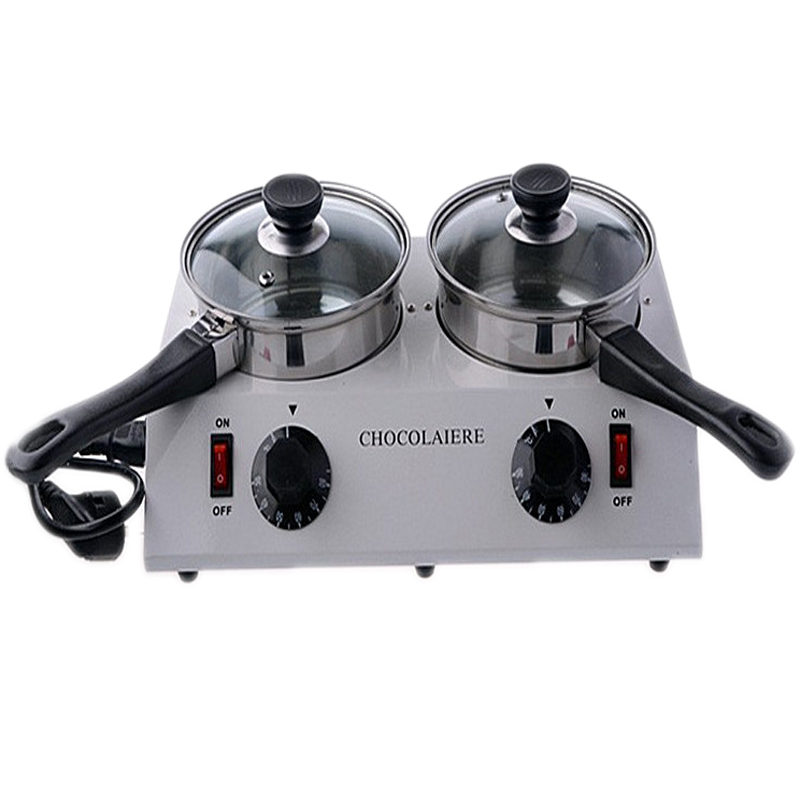 Home Use 2 Pot Chocolate Melting Pot Chocolate Thermostatic Furnace Melting machine stainless steel pot 2016 chocolate melting machine chocolate melting pot 2 pots