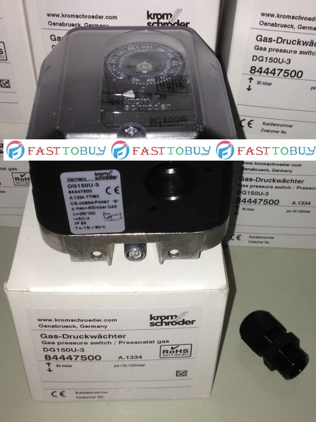 New Arrival Original Pressure Switch for Gas DG150U-3 For Burner New new original pressure switch dg10u 3