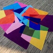 Акриловые магические ковры в форме квадратов, градиентные ковры и ковры alfombras, ковры для современной гостиной alfombras Dormitorio