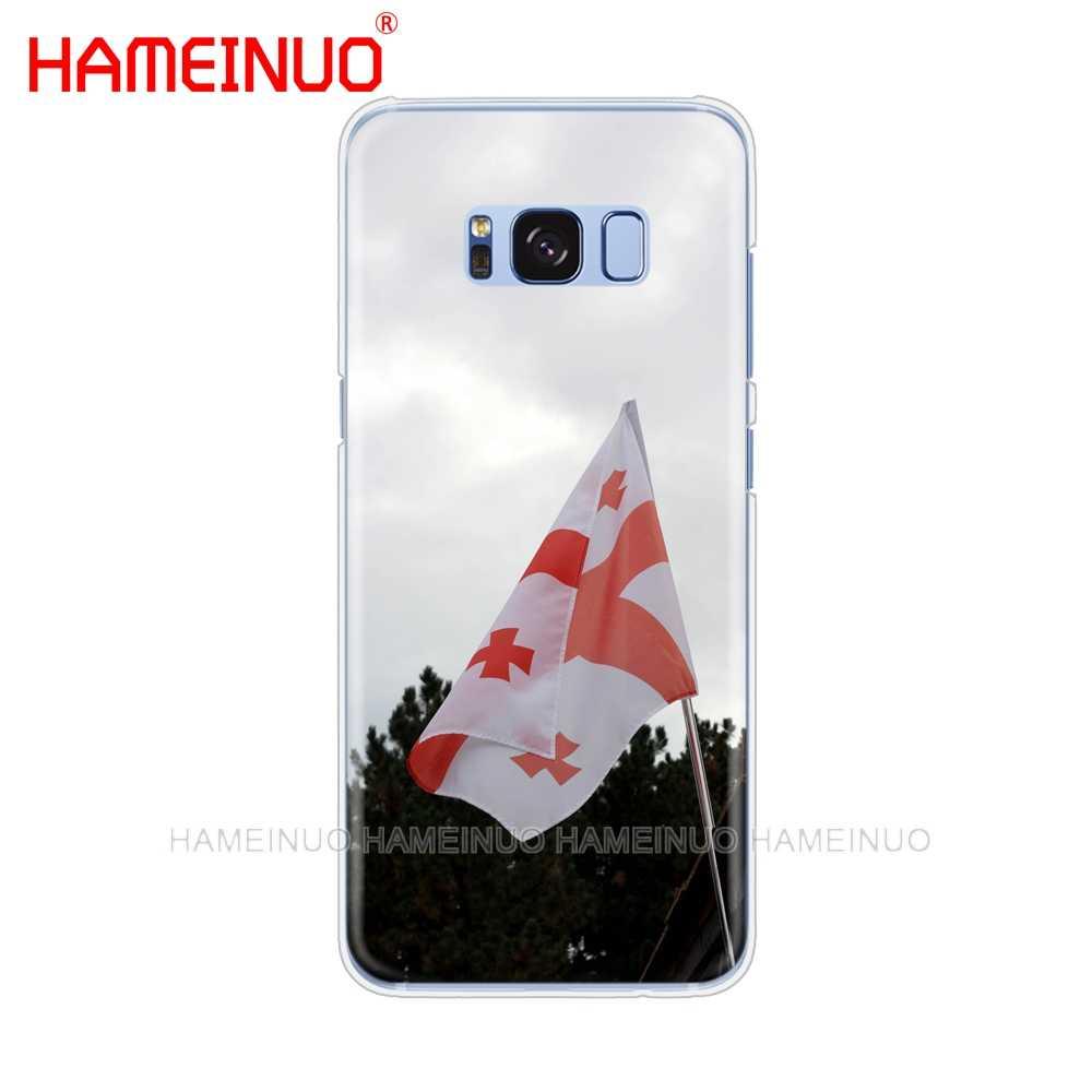 Hameinuoグルジアグランジ旗携帯電話ケースカバー三星銀河e5、e7注3,4、5 8 ON5 ON7グランドg530 2016