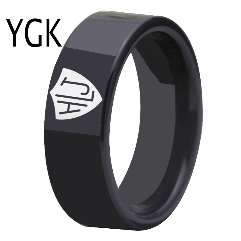 YGK Brand 8mm Black Pipe Style Men's Tungsten Carbide Ring Spanish CTR Ring HLJ Design Ring Choose The Right Ring зубило rennsteig re 4210000 зубила 125мм 150мм пробойники 3мм 4мм кернер 4мм в наборе 6шт