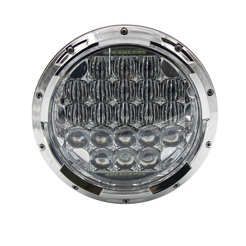 7 Headlight 5D 126W Round Motorcycle High Low Beam Projector LED DRL Headlamp For Harley Jeep