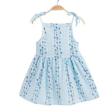 Dress Baby Girl Flower Striped Party Dress