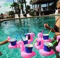 Nuevo Bebé Divertido Juguetes Mini piscina Inflable de Verano accesorios Flamenco Rojo Portavasos Flotante Beach Party Juguete de piscine