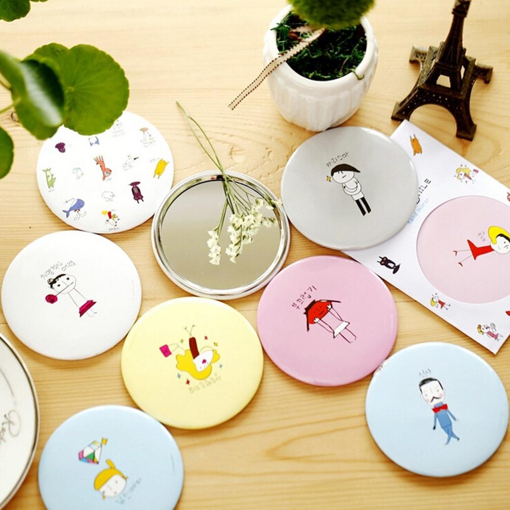 Schönheit & Gesundheit Systematisch 1 Stücke Kleine Kosmetikspiegel Cartoon Geschenk Nette Makeup Tragbare Koreanische Taschenspiegel Gelegentlich Senden Seien Sie Freundlich Im Gebrauch