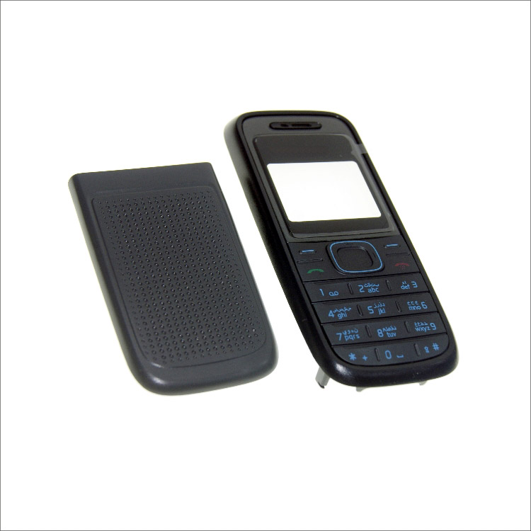 Complete front cover RM <font><b>1208</b></font> keyboard for <font><b>Nokia</b></font> <font><b>1208</b></font> battery back cover High quality <font><b>housing</b></font>+Keypad image