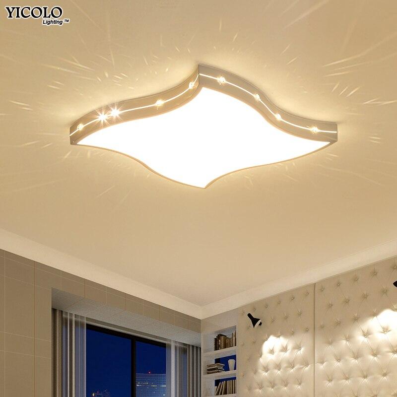 Nouveau Gradation Plafond Lumières Pour Salon Salle D'étude Chambre Décoration D'intérieur plafonnier AC85-265V Moderne Led Plafond Lampe Décor À La Maison
