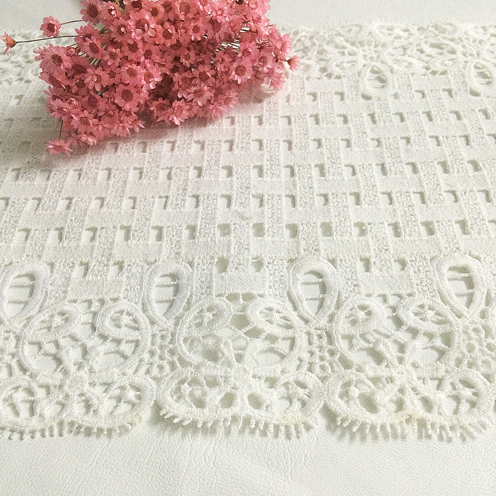 10yards Lot Lace Trim Ribbon White Lattice Wedding Dresses Embroidery Cotton Cloth Water Soluble Decoration Dhl Diy L In From Home Garden