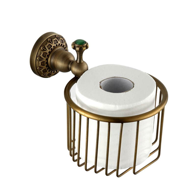 Antique Wall Mounted  Brass Retro Bathroom Accessories Toilet Paper Holder Sets Carving Toilet Roll Holders Basket autotime collection 11446 уаз 31514 вдв