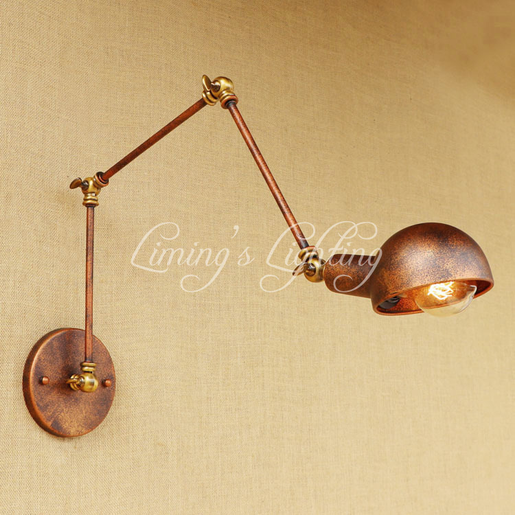 Industrial Loft Style Edison Wall Sconce Swing Long Arm Vintage Wall Lamp Iron Adjustable Wall Light Fixtures Indoor Lighting loft style iron edison wall sconce industrial lamp wheels vintage wall light fixtures antique indoor lighting lampara pared