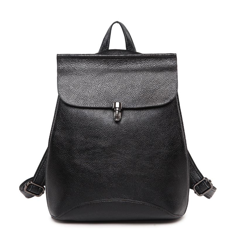 Calf Leather Fashion Women Backpack Casual Travel Bag Preppy Style Girl's Schoolbag Notebook Laptop Knapsack