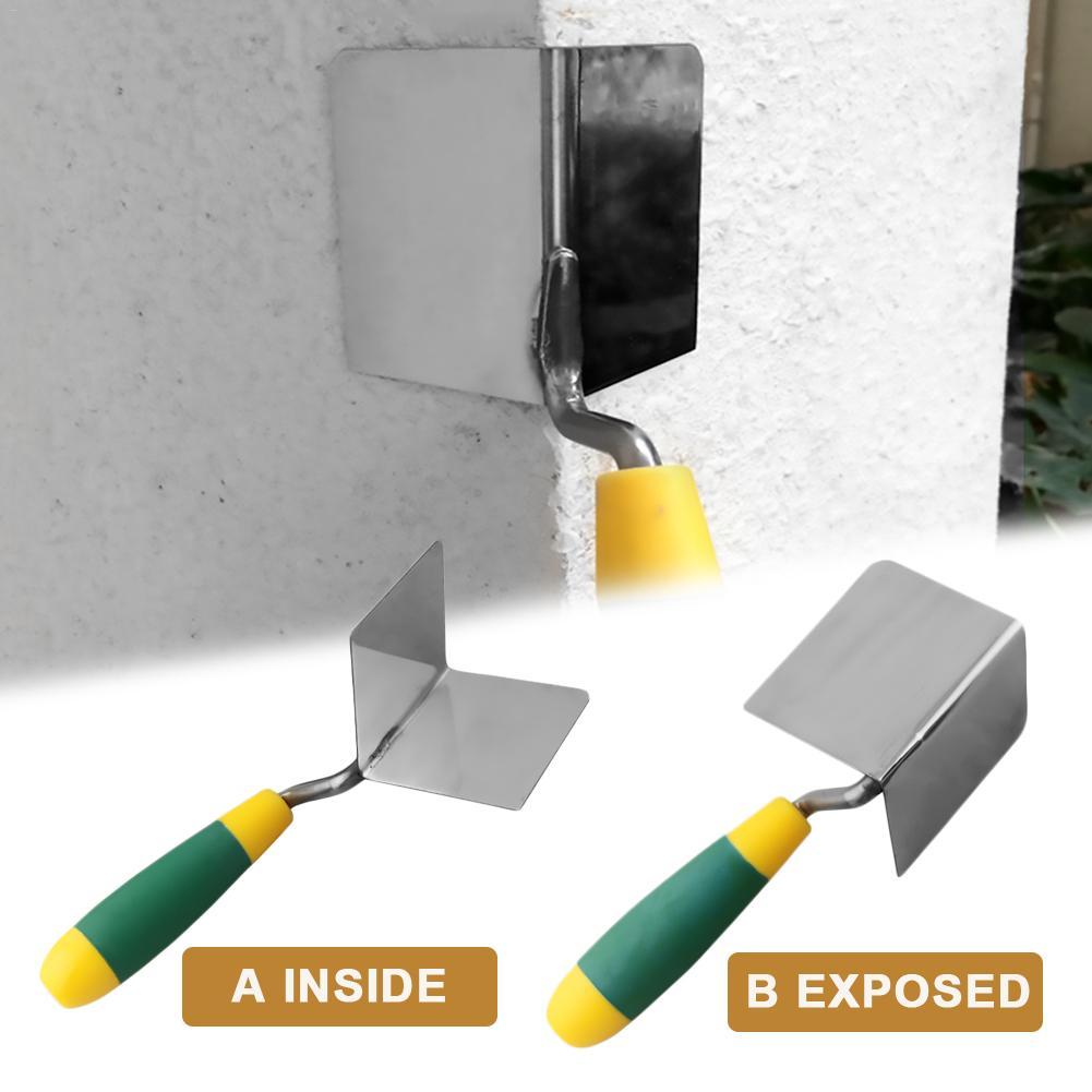 Drywall Corner Tool Flexes For Perfect 90 Degree Corner High Grade Stainless Steel  Corner Trowel Ergonomic Grip