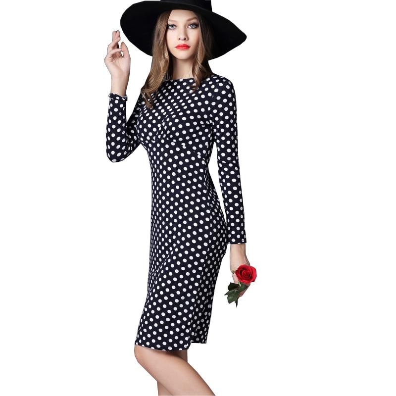 Kvinder Kontorkjole Nye ankomster Mode Polka Dots Slim Kvinder - Dametøj - Foto 4