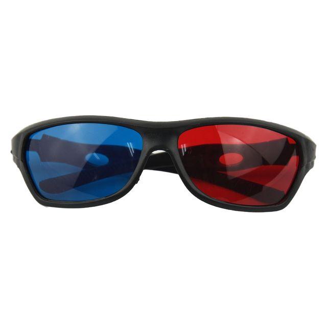 Лидер продаж fasdga 3D Пластик Очки/vr Очки красно-синие анаглиф простой Стиль 3D Очки 3D фильм игры (дополнительные обновления Стиль)