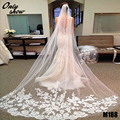 Exquisite White Ivory Lace Edge Wedding Veil One Layer Width 1.5m Length 3m 5m 10m Wedding Accessories