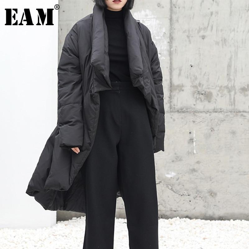 Toutes Manches Sélections Élégant eam Hiver Bas Le985 Unique 2019 Couleur Poitrine Plissée Vestes Femme Le Noir Les Longues Printemps Vers Black Poches nnqxzTHF