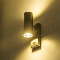 LED outdoor sensor wall waterproofgarden street light sensor automatically lamp motion public road Night Porch Lights
