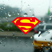 Reflective Superman logo personality car sticker,fashion car window fuel tank cap body decor stickers and decals styling cover