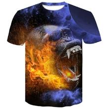 2019 new Big yards orangutan Newest Fashion Brand T-shirt Men/Women Summer 3d Tshirt Print wolf T shirt Male Tops Tee M-4XL men wolf 3d print tee