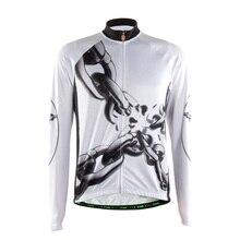Tvsss männer sommer radfahren clothing schwarz und weiß lange hülsenfahrrad jersey mit kette muster