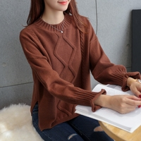 The New Film 5739 Pure Color Round Collar Turtleneck Sweater 48 6 Row 4