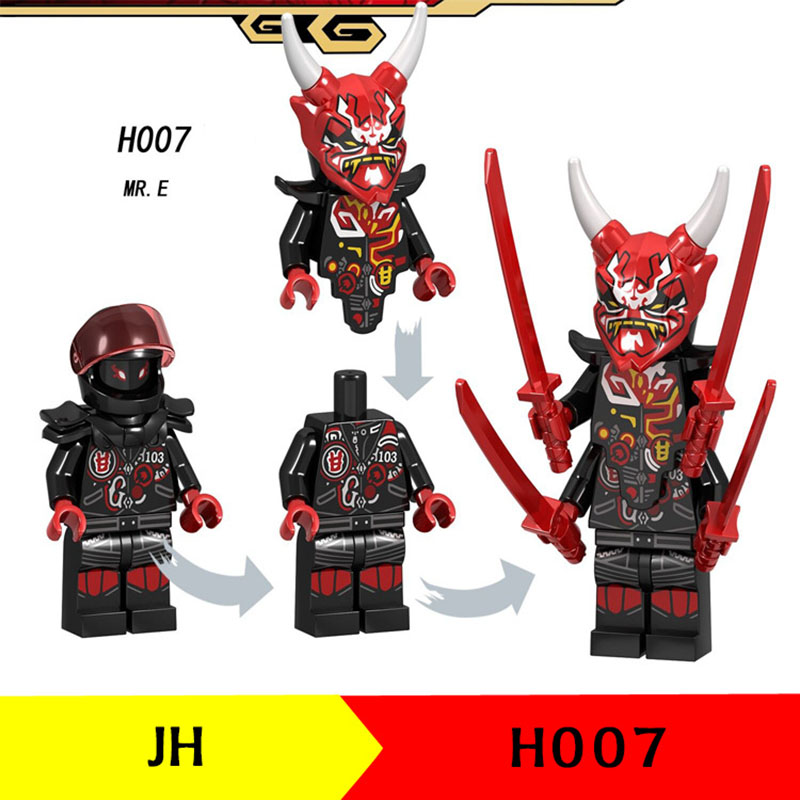 New Compatible LegoINGlys 70643 NINJAGO MR. E Lloyd Nya Krux Kai Samurai X The Wei Snake Wu Vermin Building Bricks Toys For Kids