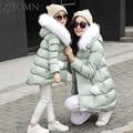 Hija de la madre de patrón de estrella de la moda abrigo de invierno chaqueta de la capa de ropa de alta calidad de la familia de madre e hija juego mirada YL368