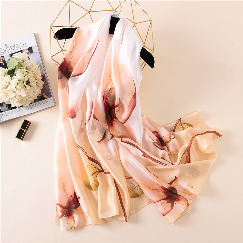 Women Large Floral Shawl Silky Smooth Stylish   Scarf   Summer   Wrap   Design Long Beach Sarong NEW 2018 [3248]